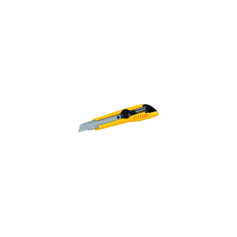 Cutter universel à blocage de lame 18mm jaune + 3 lames