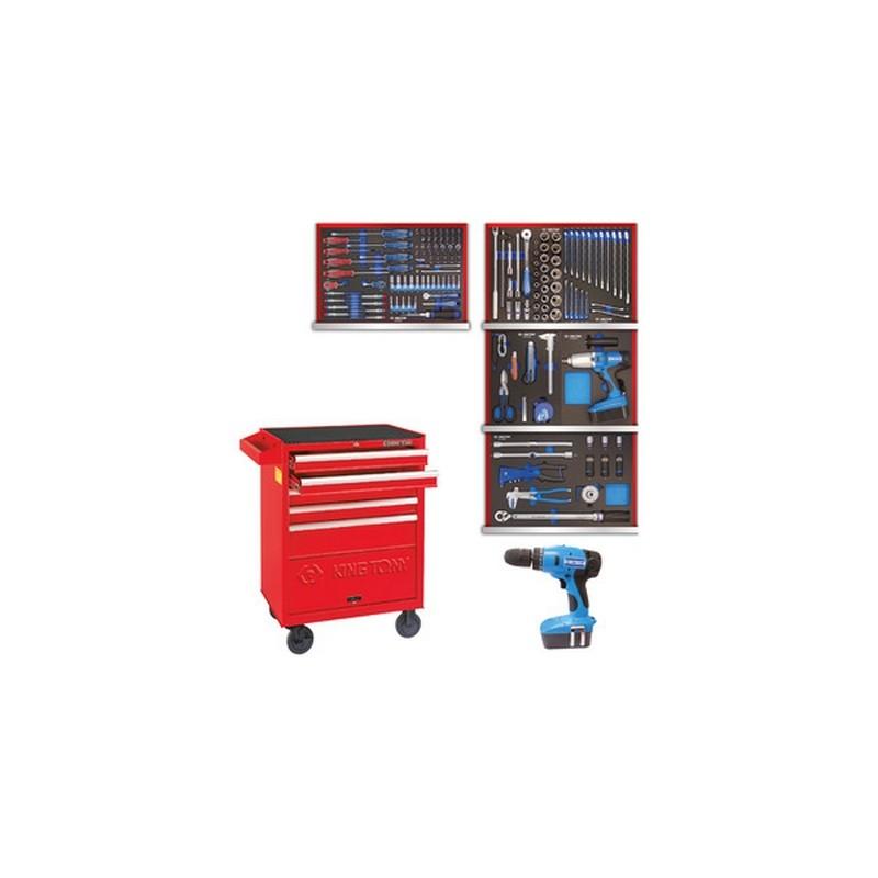 Servante d'atelier complète pro KT Service Rapide - 182 outils