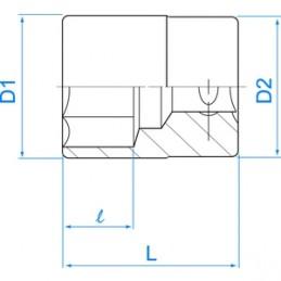"""Douille Métrique 3/8"""" (9,,53mm) Standard 6 Pans"""