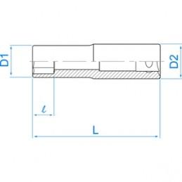 """Douille pour vis mâles Torx 3/8"""" (9,53mm) Longue 3275M"""
