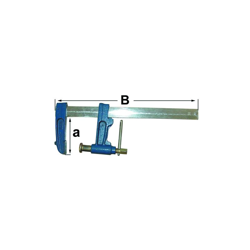 Serre joint a pompe  30x8 h 90 lg 600