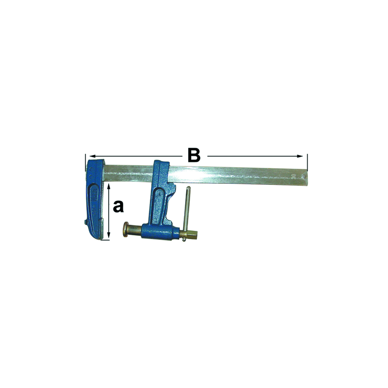 Serre joint a pompe 35x8 h120 lg 600