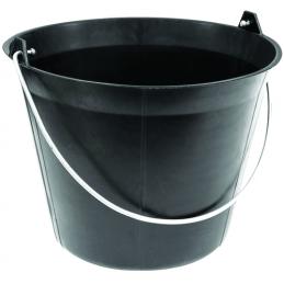 Seau macon 11 litres plastique noir anse d5.3