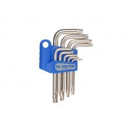 Jeu de clés mâles TORX en étui - 9 pièces