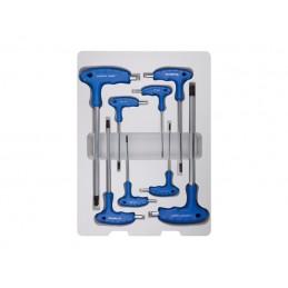 Thermoformé de clés mâles  6 pans à poignée en L avec tête sphérique