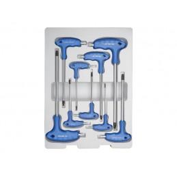 Thermoformé de clés mâles  TORX à poignée en L - 9 pièces