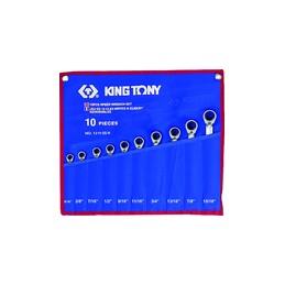 Trousse de clés mixtes à cliquet pouces - 10 pièces