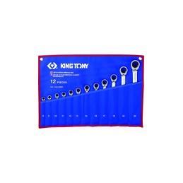 Trousse de clés mixtes à cliquet métriques - 12 pièces