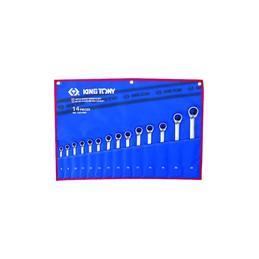 Trousse de clés mixtes à cliquet métriques - 14 pièces