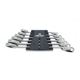 Rack de clés polygonales à cliquet métriques - 6 pièces
