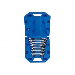 Coffret de clés mixtes à cliquet tête articulée métriques - 12 pièce