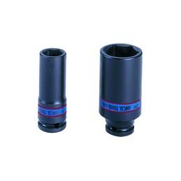 """Douille à chocs Métrique 1/2"""" (12,,7mm) Longue 16 mm"""