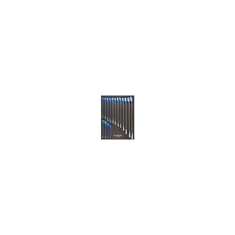 Plateau EVAWAVE de clés mixtes métriques - 16 pièces