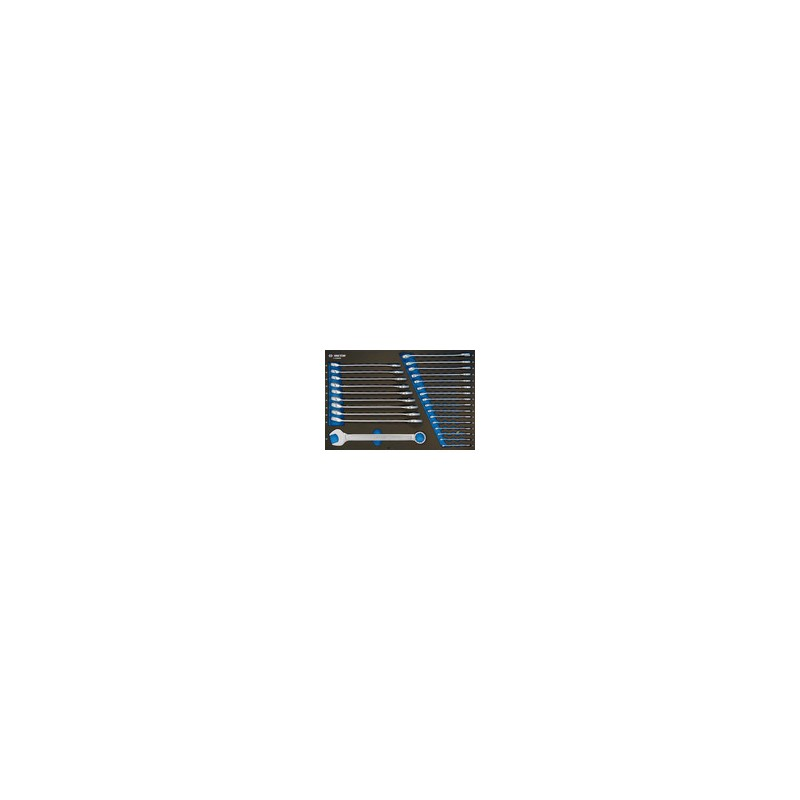Plateau EVAWAVE de clés mixtes métriques - 26 pièces