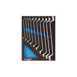 Plateau EVAWAVE de clés polygonales contrecoudées métriques - 10 piè