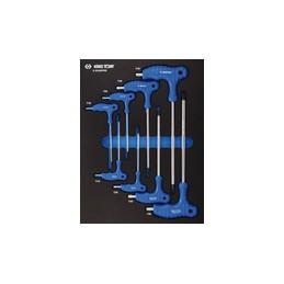 Plateau EVAWAVE de clés mâles TORX et RESISTORX - 8 pièces