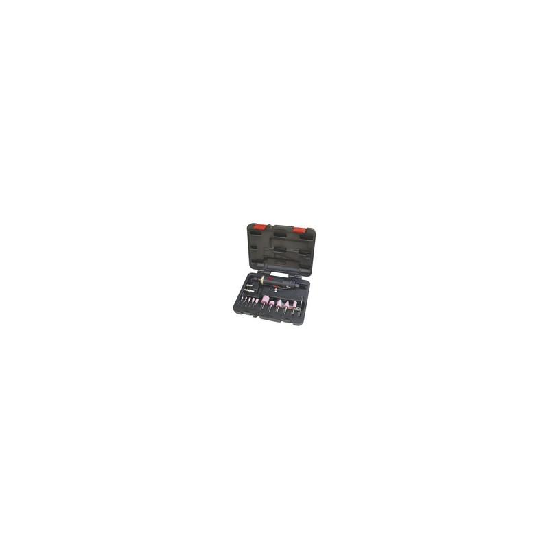 Coffret de meuleuse droite avec accessoires - 15 pièces
