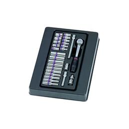 """Thermoformé de douilles et accessoires 1/4"""" métriques 26 pièces"""