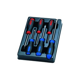 Thermoformé de tournevis à fente et PHILLIPS - 6 pièces