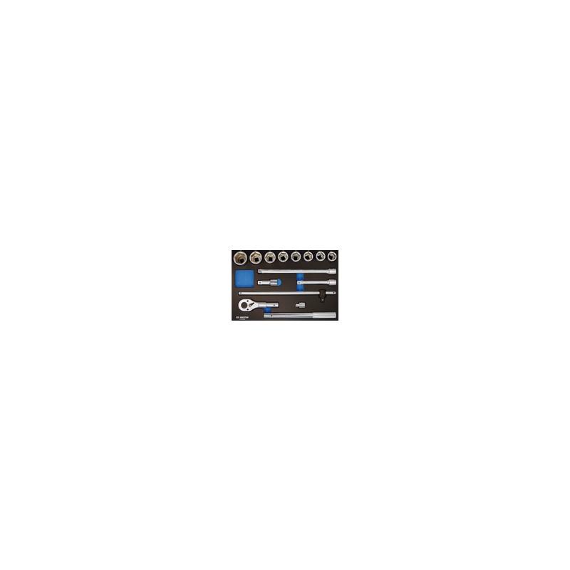 """Plateau EVAWAVE de douilles et accessoires 3/4"""" métriques - 14 pièce"""