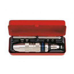 Coffret de tournevis à frapper et accessoires - 8 pièces