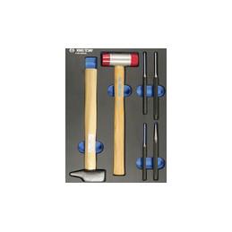 Plateau EVAWAVE de chasse-goupilles et marteaux - 6 pièces