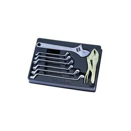 Thermoformé de clés polygonales,, à molette et pince étaux - 8 pièce