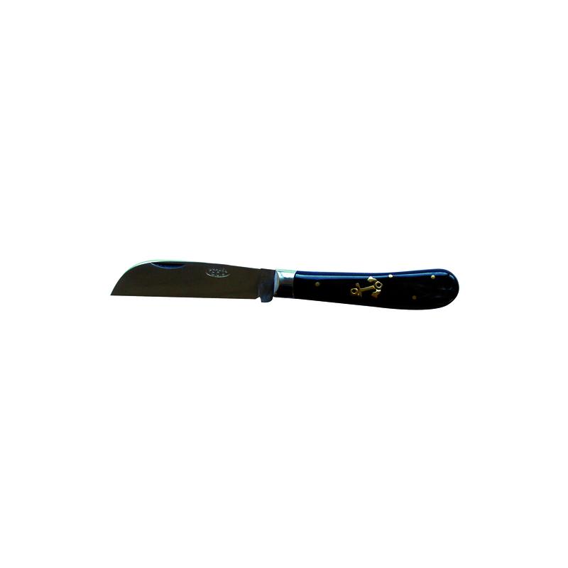Couteau london corne noir encre marine 105mm