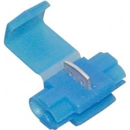 Cosse connecteur bleu autodénudant (boite de 17)