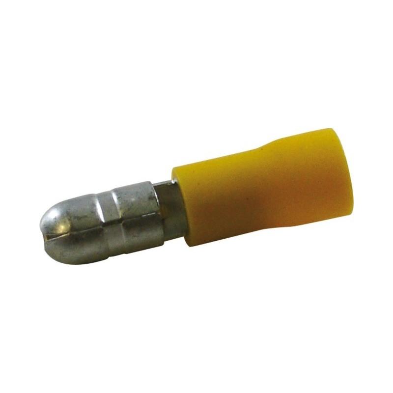 Cosses rondes diamètre 5mm mâle jaune (boite de 16)