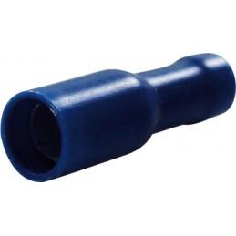 Cosses rondes diamètre 4mm femelle bleu (boite de 16)