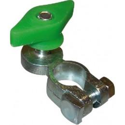 Cosse bat - verte M 10mm laiton avec ecrou pap.