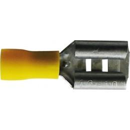 Sachet 100 cosses plates 6.3mm femelle jaune