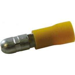 Sachet 100 cosses rondes 5mm mâle jaune