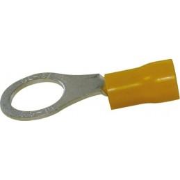 Sachet 100 cosses oeil pour vis M 6mm jaune