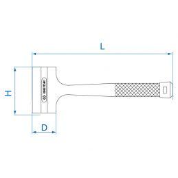 Massette sans rebond avec micro-billes d'acier 7851