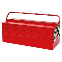 Caisse à outils métallique vide - 5 compartiments