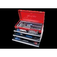 Caisse à outils et servante avec outils